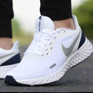 Nike Revolution 5.0 White/metallic Silver/navy