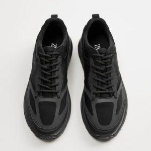 Zara Black Sneakers Chunky Soles