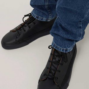 Zara BLACK HIGH-TOP SNEAKERS